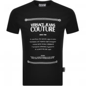 Product Image for Versace Jeans Couture Label Logo T Shirt Black