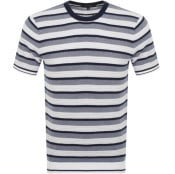 Product Image for Michael Kors Stripe Crew Neck T Shirt Navy
