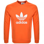 Product Image for Adidas Originals Trefoil Crew Sweatshirt Orange