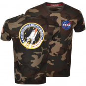 Product Image for Alpha Industries Space Shuttle Logo T Shirt Khaki