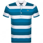 Product Image for Lacoste Sport Polo Stripe T Shirt Blue