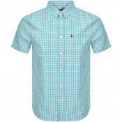 Product Image for Jack Wills Short Sleeved Gingham Shirt Blue