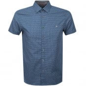 Product Image for Ted Baker Short Sleeved Mathew Shirt Blue