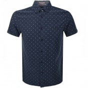 Product Image for Ted Baker Short Sleeved Bronze Shirt Navy