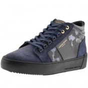 Product Image for Android Homme Propulsion Suede Mid Trainers Navy