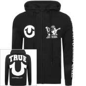Product Image for True Religion Logo Full Zip Hoodie Black