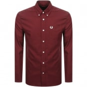 Product Image for Fred Perry Long Sleeved Classic Oxford Shirt Red