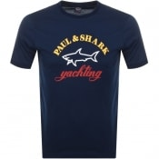 Product Image for Paul And Shark Logo T Shirt Navy