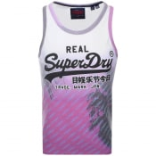 Product Image for Superdry Vintage Real Logo Vest T Shirt Purple