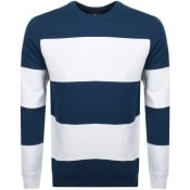 Product Image for PS By Paul Smith Striped Crew Neck Sweatshirt Navy
