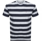 Product Image for Tommy Jeans Stripe T Shirt Navy