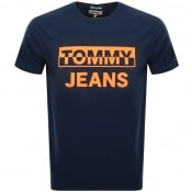 Product Image for Tommy Jeans Block Logo T Shirt Navy