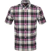 Product Image for Fred Perry Short Sleeved Madras Check Shirt Purple