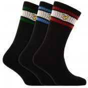 Product Image for Lyle And Scott Grant Three Pack Socks Black