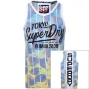Product Image for Superdry Ticket Type Infill Vest T Shirt White