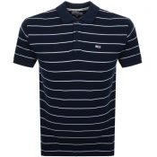 Product Image for Tommy Jeans Essential Stripe Polo T Shirt Navy