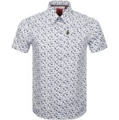 Product Image for Luke 1977 Short Sleeved Casa Moda Shirt White