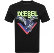 Product Image for Diesel T Diego A4 Short Sleeved T Shirt Black