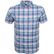 Product Image for Gant Short Sleeved Oxford Plaid Shirt Green