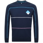 Product Image for Barbour Beacon Breock Crew Neck Sweatshirt Navy