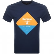 Product Image for Barbour Beacon Diamond T Shirt Navy