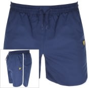 Product Image for Lyle And Scott Logo Piping Swim Shorts Navy