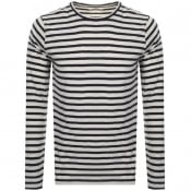 Product Image for Nudie Jeans Orvar Striped T Shirt White