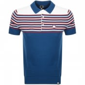 Product Image for Pretty Green Colour Block Knit Polo T Shirt Blue