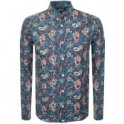Product Image for Pretty Green Long Sleeved Paisley Shirt Teal