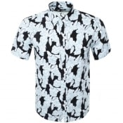 Product Image for Michael Kors Short Sleeved Floral Shirt White