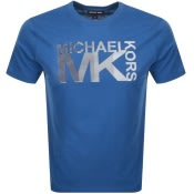 Product Image for Michael Kors Athletic Logo T Shirt Blue