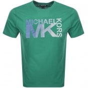 Product Image for Michael Kors Athletic Logo T Shirt Green