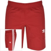 Product Image for adidas Originals Three Stripe Swim Shorts Red