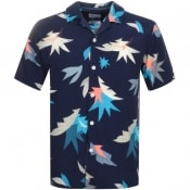 Product Image for Farah Vintage Short Sleeved Tida Shirt Navy