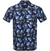 Product Image for Les Deux Short Sleeved Polynesia Shirt Navy