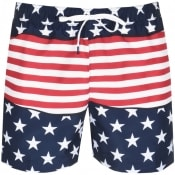 Product Image for Tommy Hilfiger American Flag Swim Shorts Navy