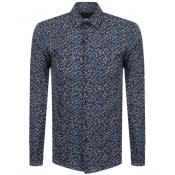 Product Image for BOSS HUGO BOSS Slim Fit Isko Shirt Navy