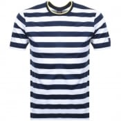 Product Image for Paul And Shark Short Sleeved Stripe T Shirt Navy