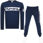 Product Image for Money Block Sig Ape Crew Neck Tracksuit Navy