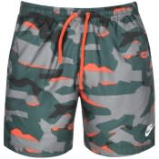 Product Image for Nike Camouflage Logo Swim Shorts Green