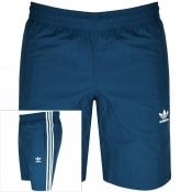 Product Image for adidas Originals Three Stripe Swim Shorts Blue