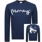 Product Image for Money Chrome Ape Logo Sweatshirt Navy