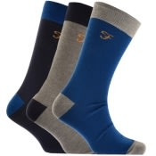 Product Image for Farah Vintage Cason Cont 3 Pack Socks Navy