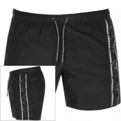 Product Image for Emporio Armani Taped Swim Shorts Black