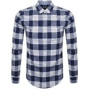 Product Image for BOSS HUGO BOSS Rikard Check Shirt Navy