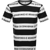 Product Image for Converse Stripe Wordmark Logo T Shirt Black