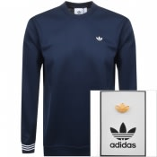 Product Image for adidas Originals Pique Sweatshirt Navy