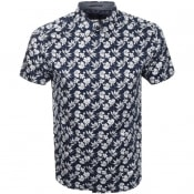 Product Image for Ted Baker Short Sleeved Koalr Shirt Navy