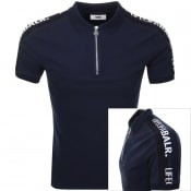 Product Image for BALR Life Of A BALR Trimmed Polo T Shirt Navy