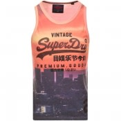Product Image for Superdry Premium Goods Logo Vest T Shirt Orange